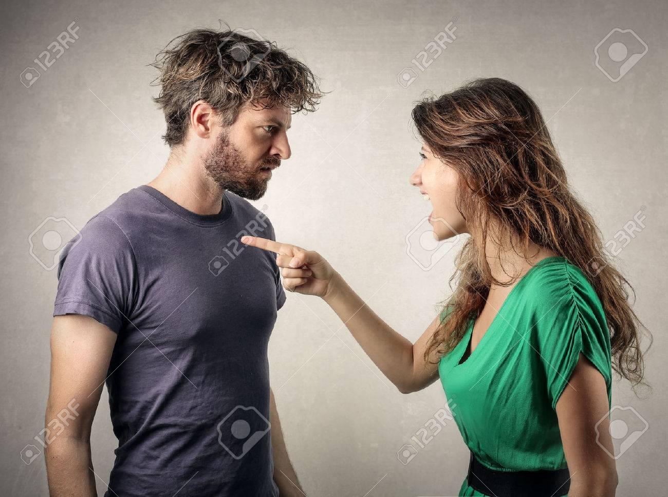 Couple in a fight Standard-Bild - 59115070