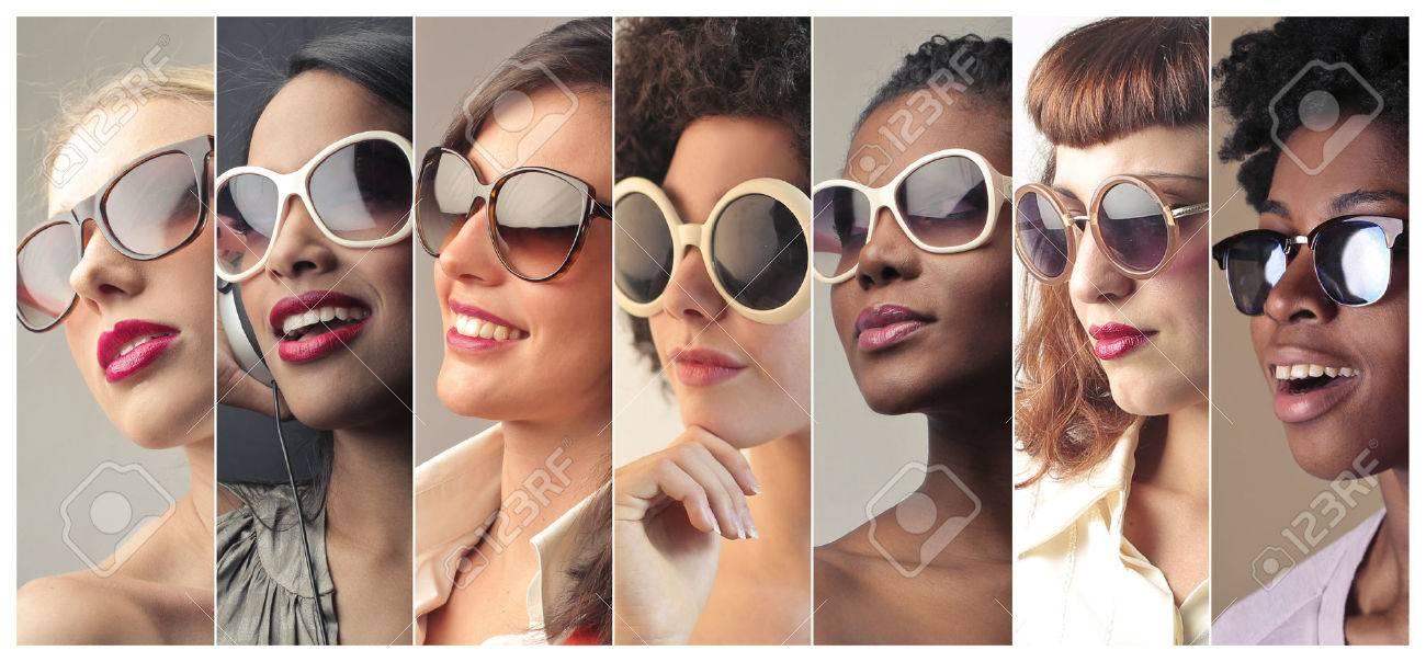 Women wearing sunglasses - 59115712