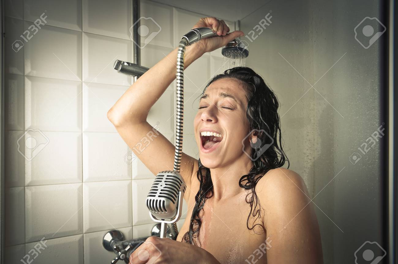 Singing In The Shower Stock Photo Picture And Royalty Free Image