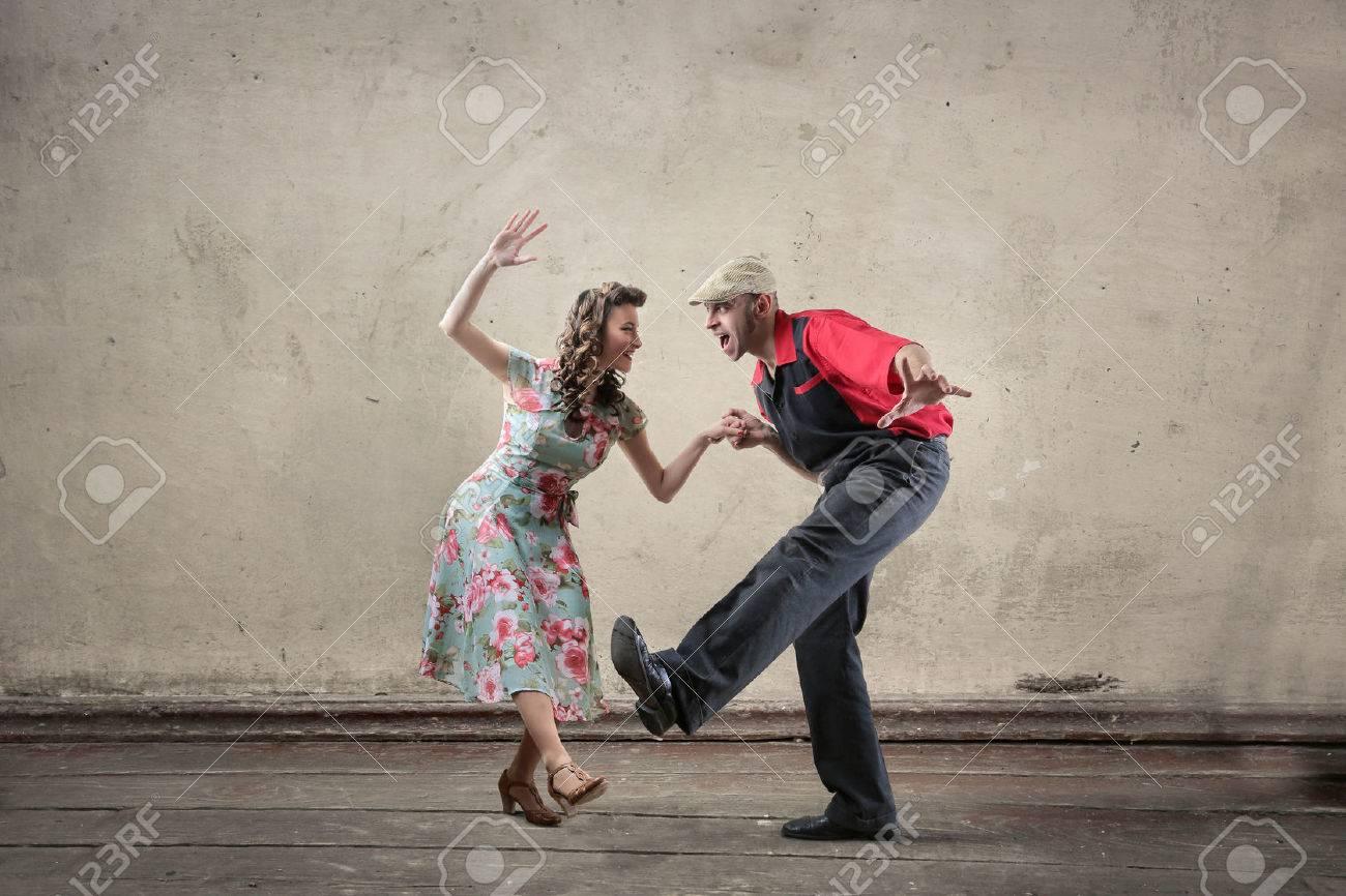 Man and woman dancing Standard-Bild - 61146739