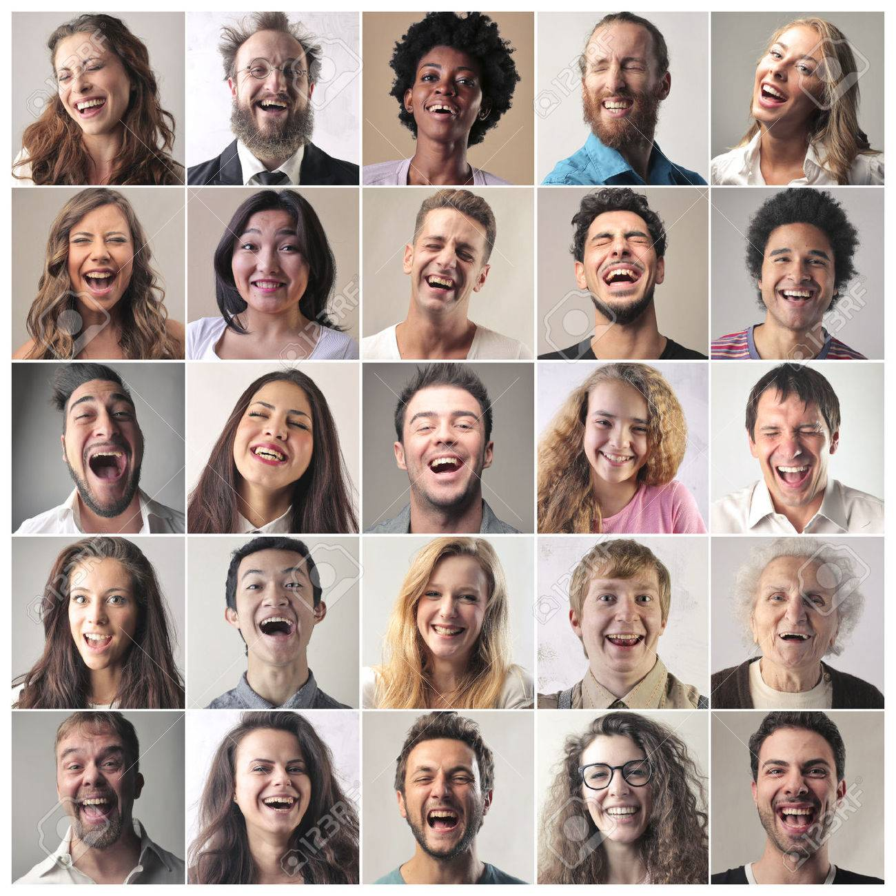 Laughing people Standard-Bild - 64084095
