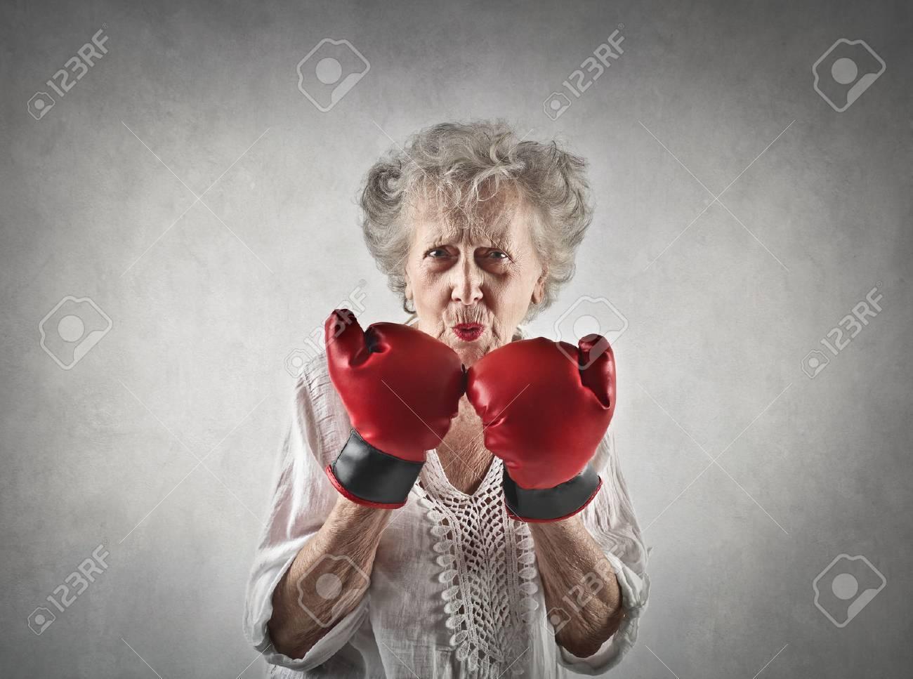 Elderly fighter - 64977012