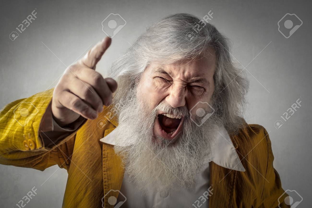 Angry Old Man Stock Photo Picture And Royalty Free Image Image