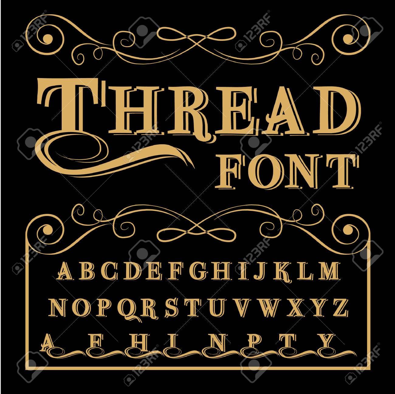 Vintage script font  Vector typeface