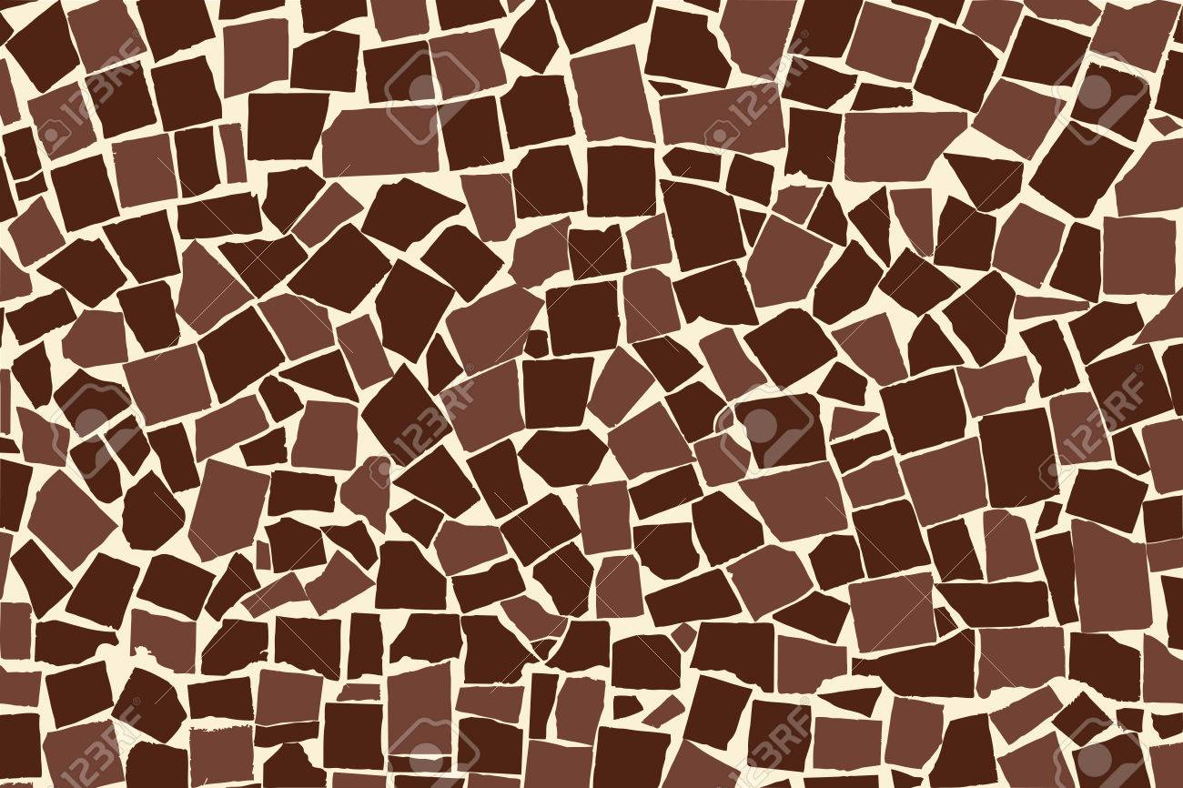 vector vector texture of brown two colored asymmetric decorative tiles wall vector illustration - Decorative Tiles