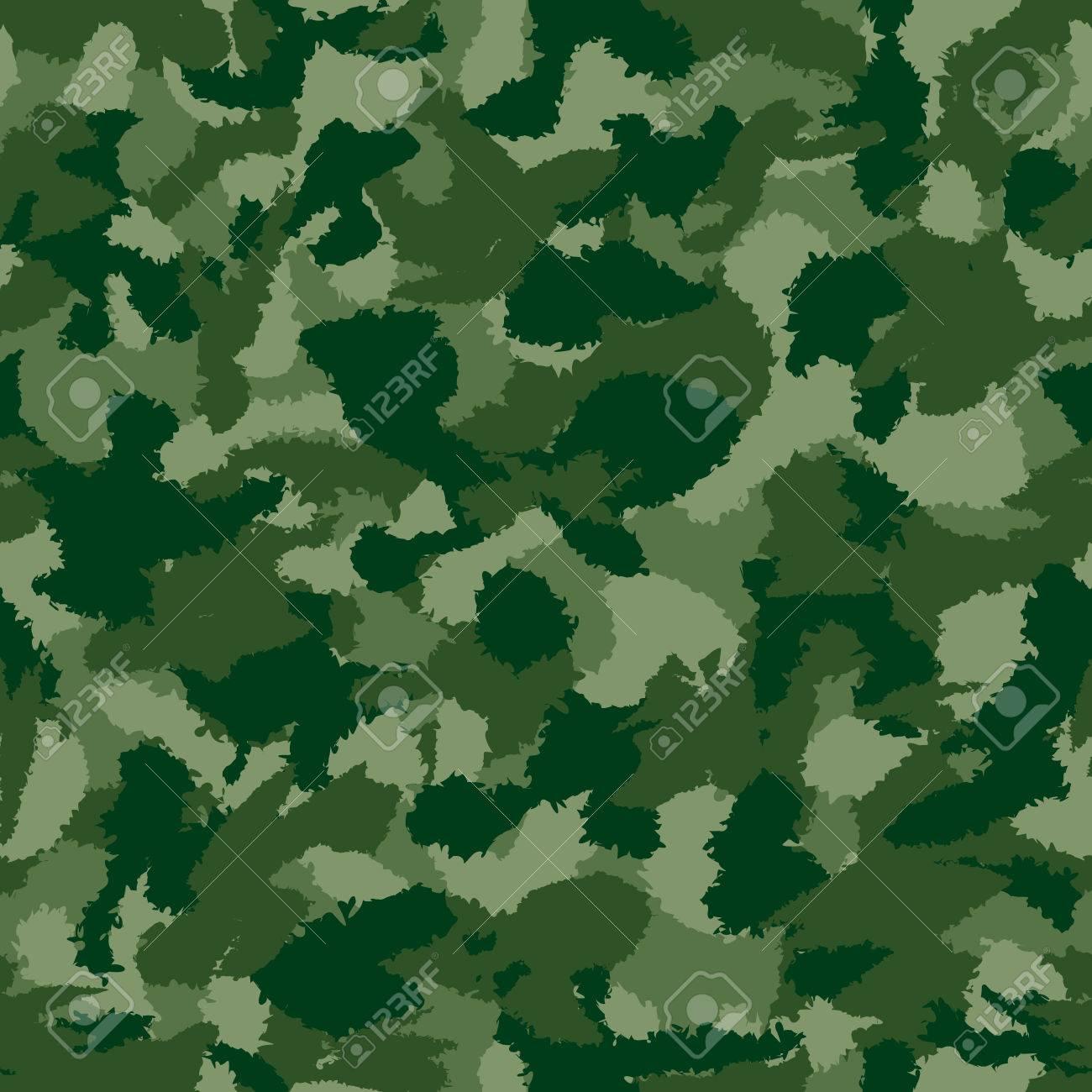 Carta Da Parati Mimetica.Vettoriale Guerra Foresta Verde Mimetico Seamless Vettore Puo