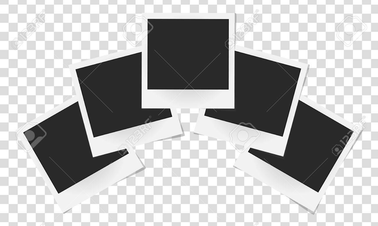 分離の現実的なベクトルの写真フレームのコラージュ テンプレート