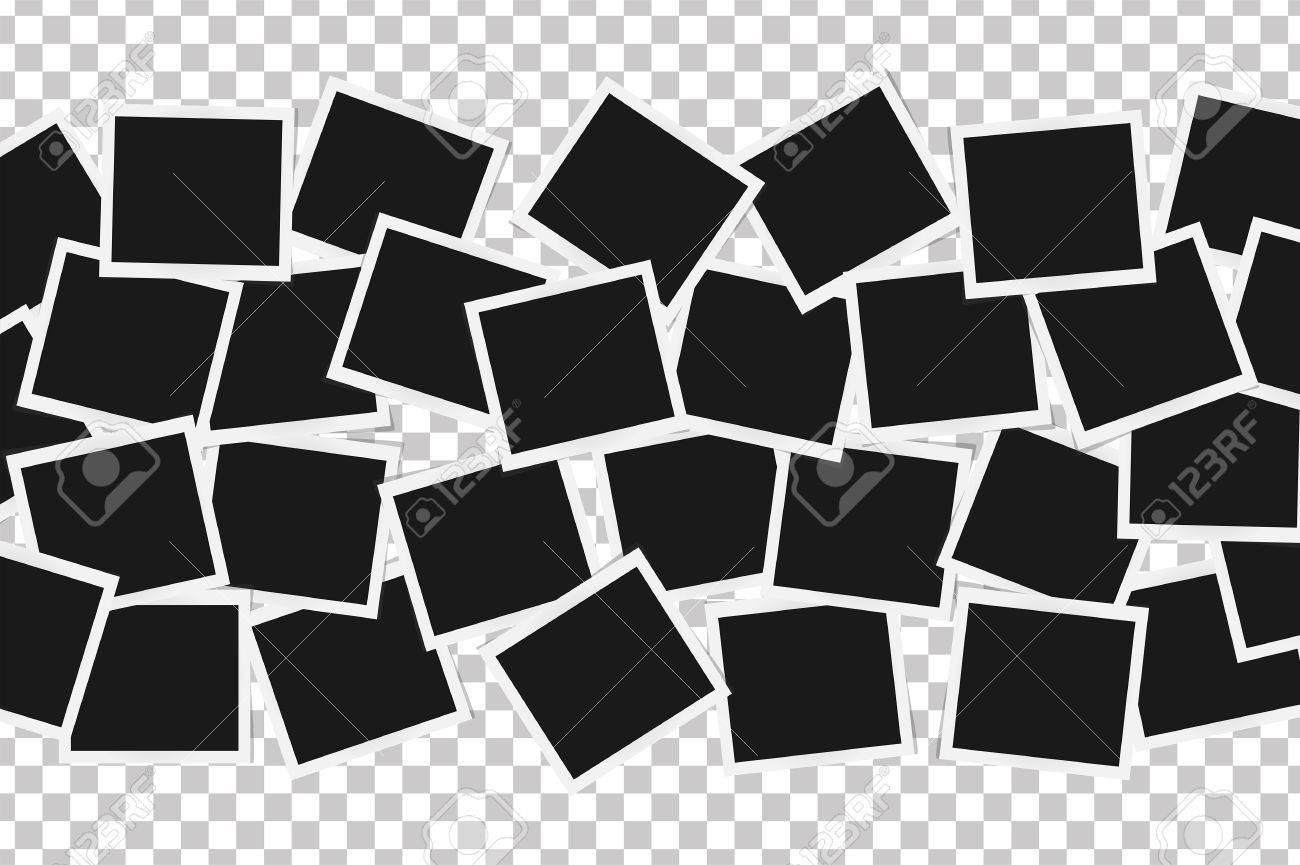 Collage De Marcos Realistas Aislado. Diseño De La Plantilla ...