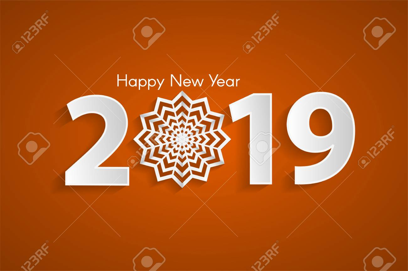 Happy New Year Orange 3