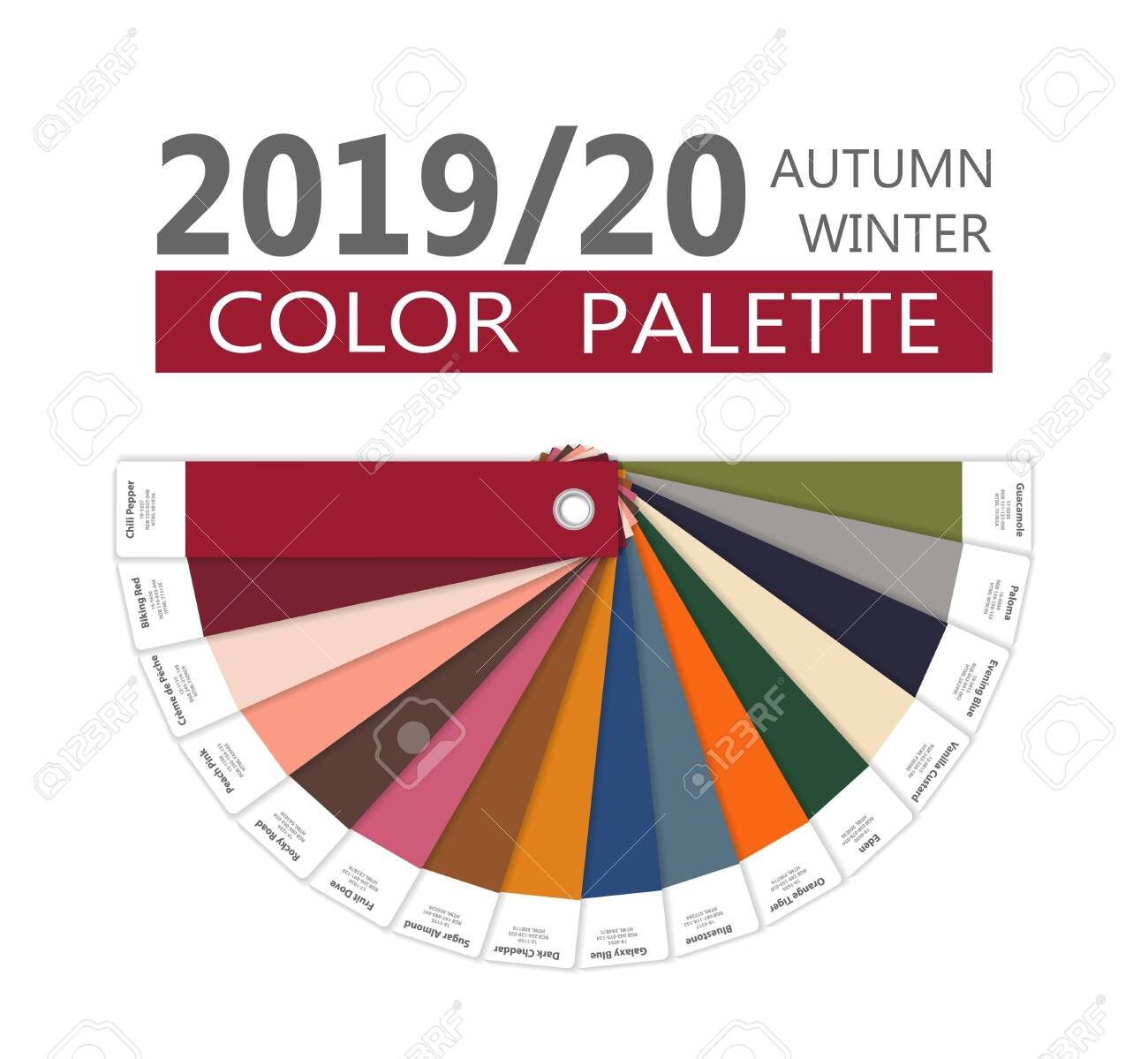 Fall Color Trends 2020.Round Autumn And Winter 2019 2020 Fashion Color Palette Worlds