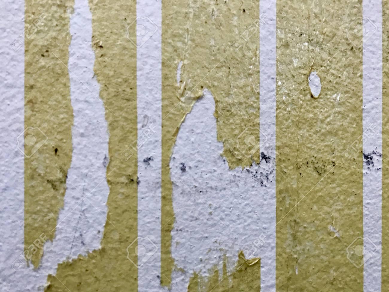 Einige Klebepapiere Die An Der Wand Befestigt Sind Lassen Das