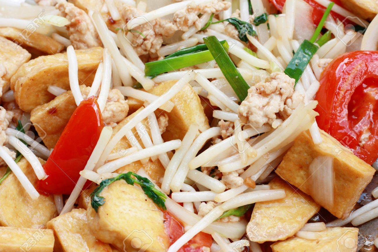 Bean Sprout Tofu Recipe Fried Tofu With Bean Sprout