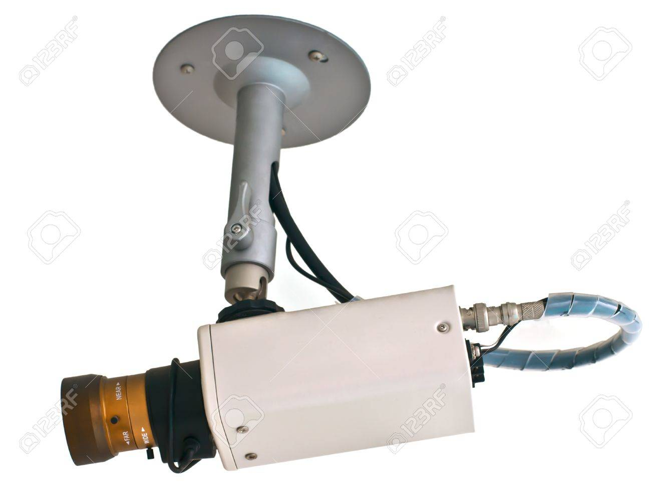 CCTV security camera isolated on white Stock Photo - 14122105