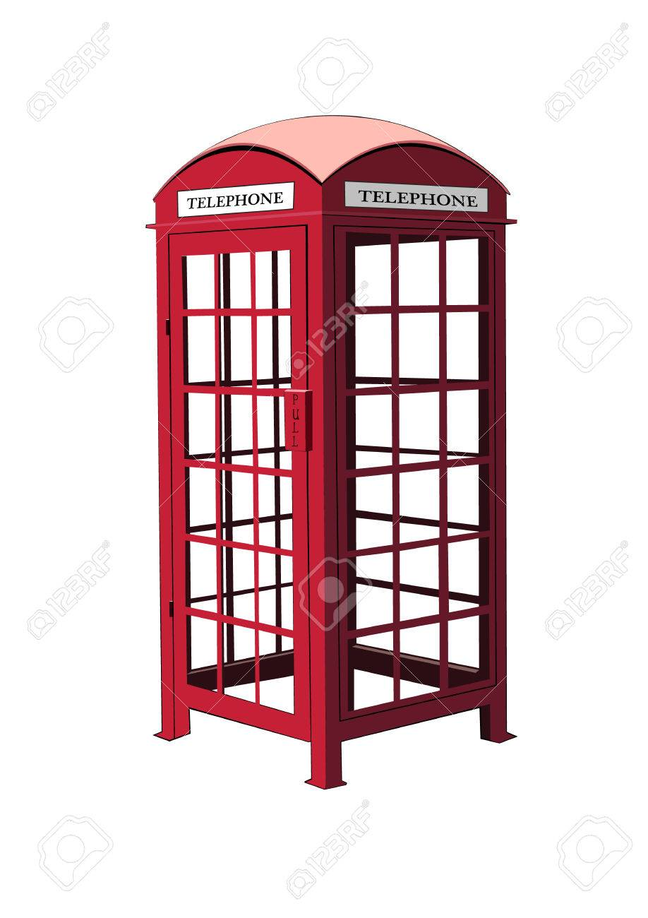 London red phone booth vector Stock Vector - 29950825