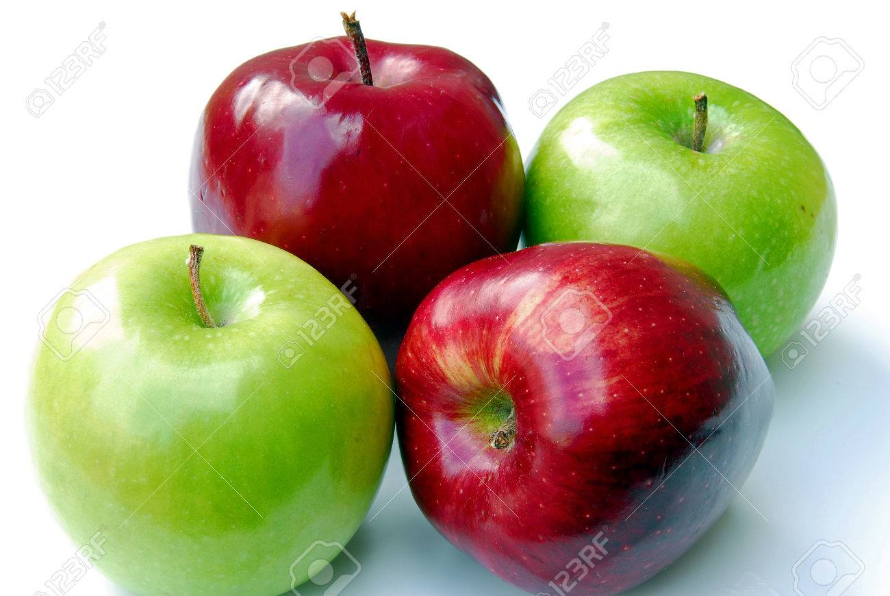 four apples stock photo picture and royalty free image image 1517669