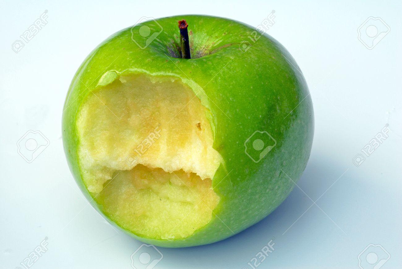 Green Apple Bite Stock Photo - 1517668