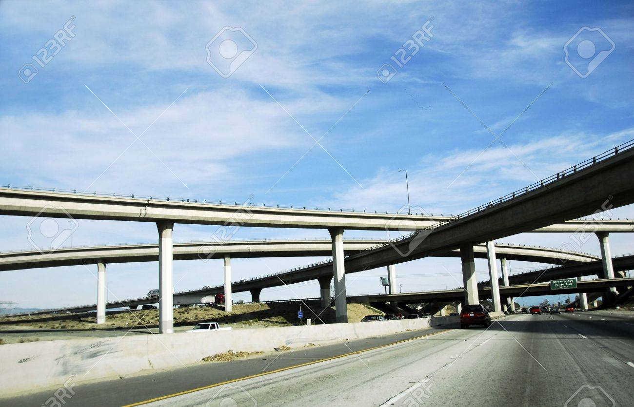 Overpass America Freeway System Stock Photo - 2283976