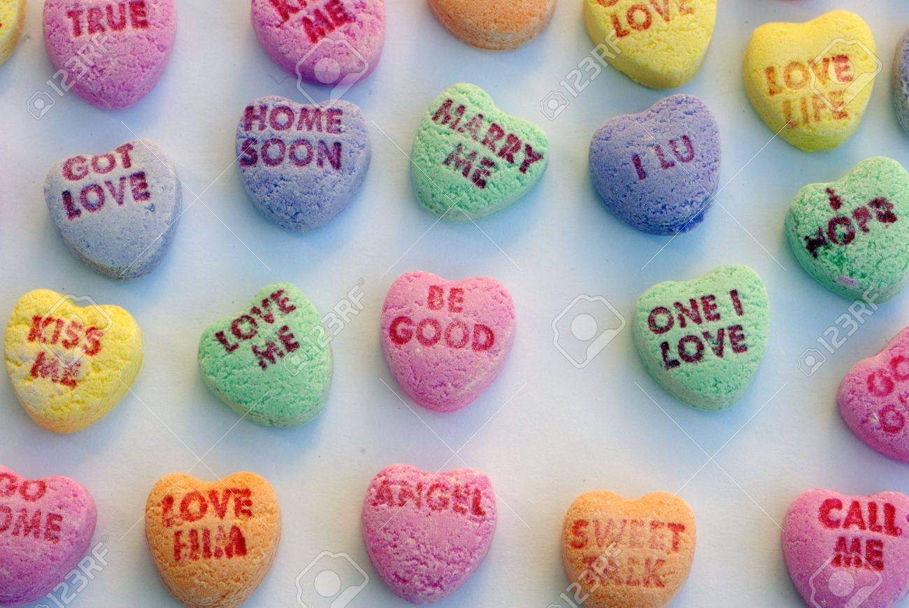 love heart candy stock photo, picture and royalty free image. image