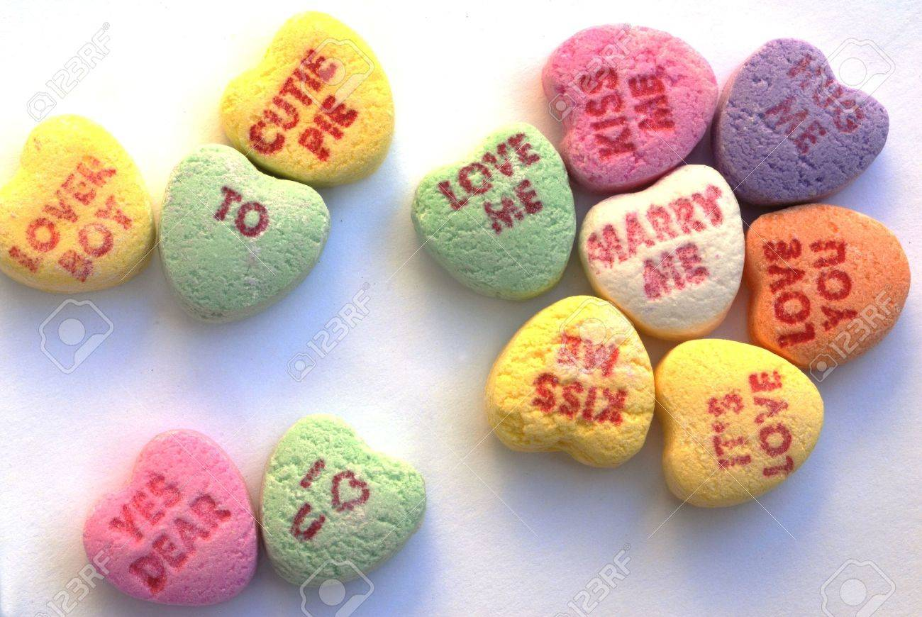 valentine love heart candy stock photo, picture and royalty free