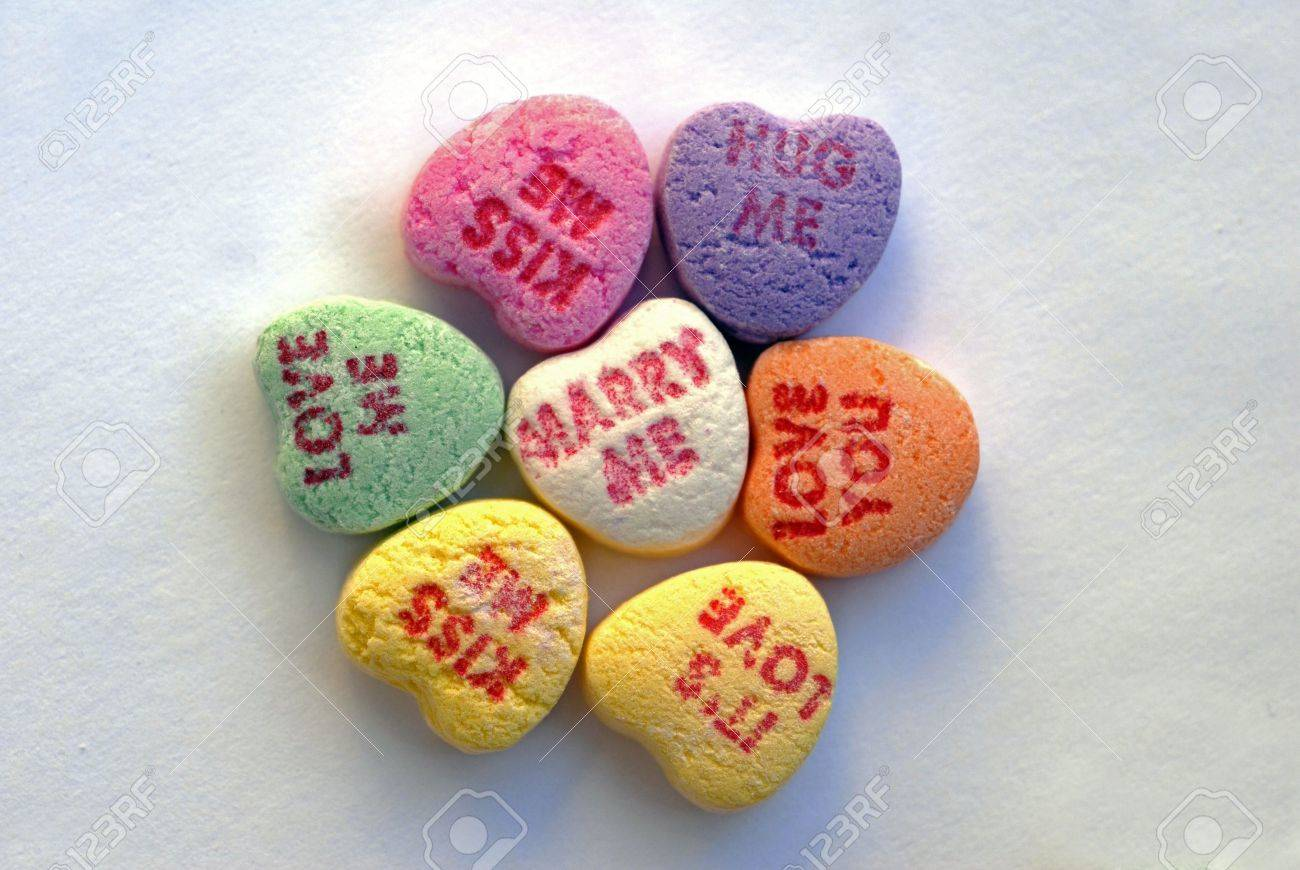 love heart candy flower stock photo, picture and royalty free image