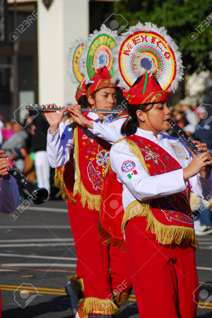 122nd Rose Parade on January 1, 2011 at Colorado Boulevarde Pasadena California Stock Photo - 8790777
