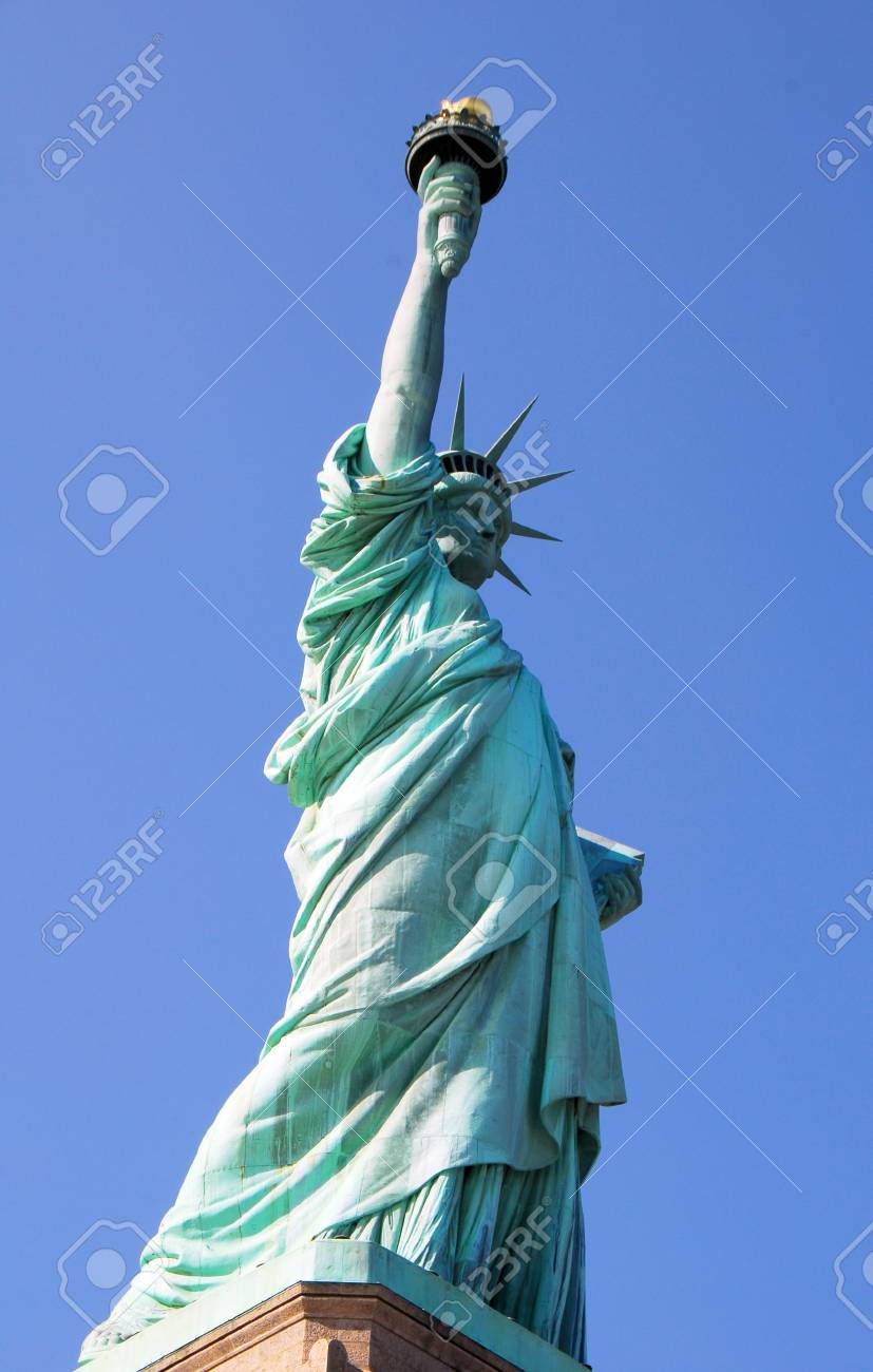 Statue of Liberty a popular tourist attraction in in New York City USA Stock Photo - 13862262