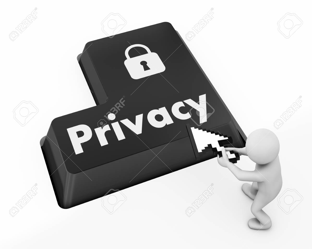message on keyboard enter key, for privacy policy concepts Stock Photo - 30716302