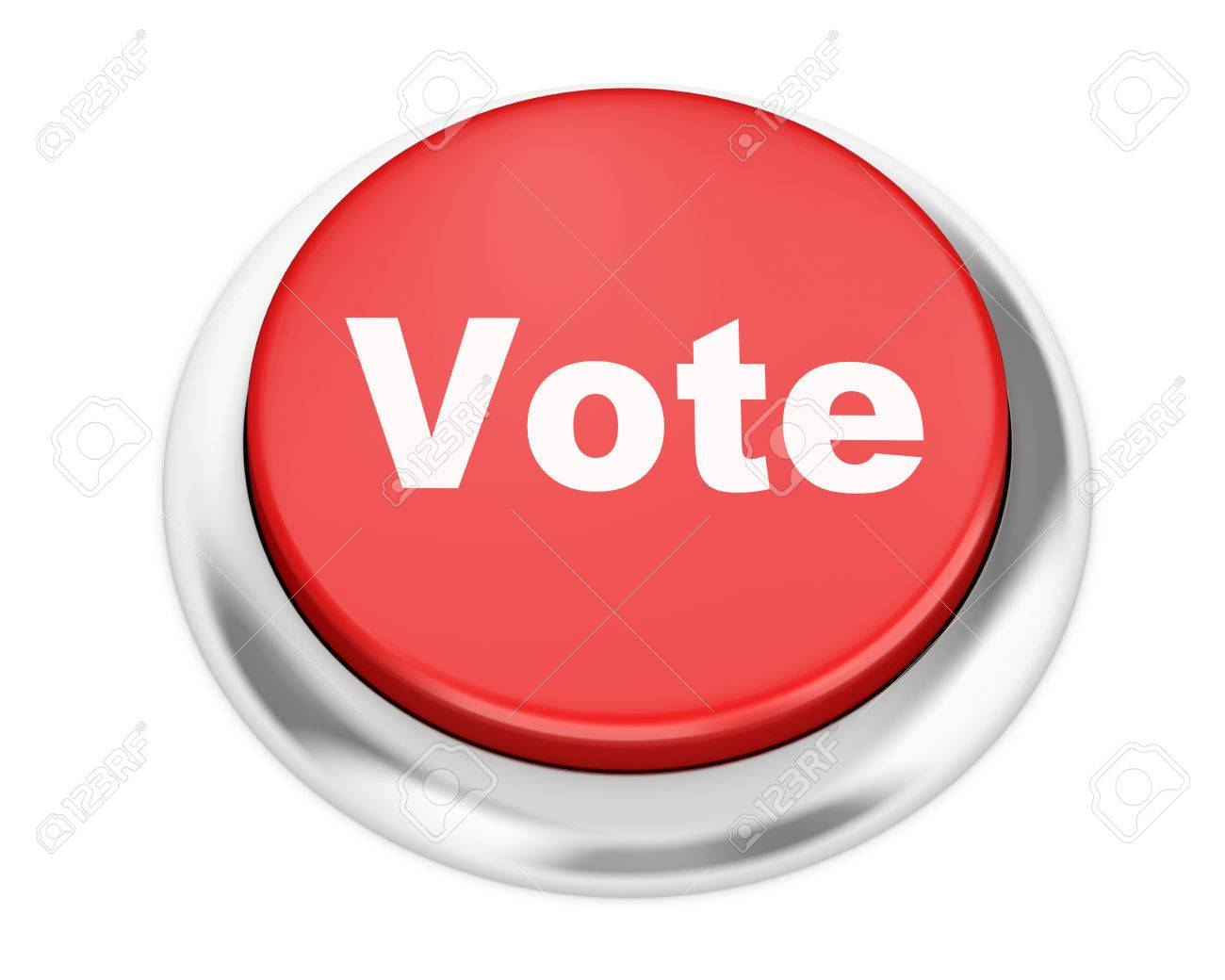 Vote Button On Isolate White Background Stock Photo, Picture And ...