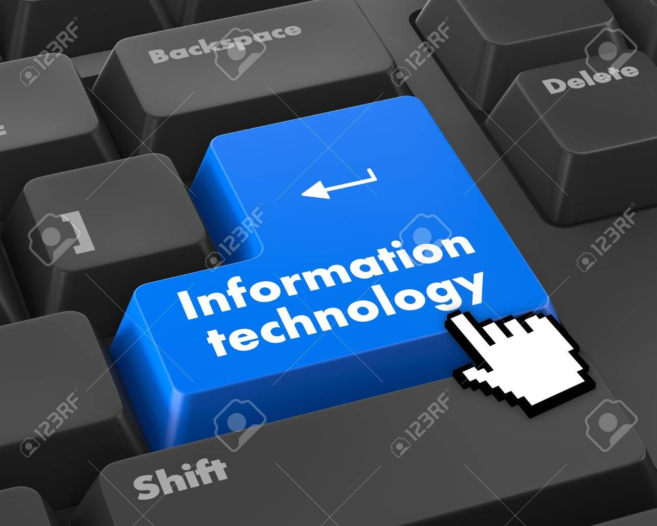 Le Concept De L'information: Clavier D'ordinateur Avec La