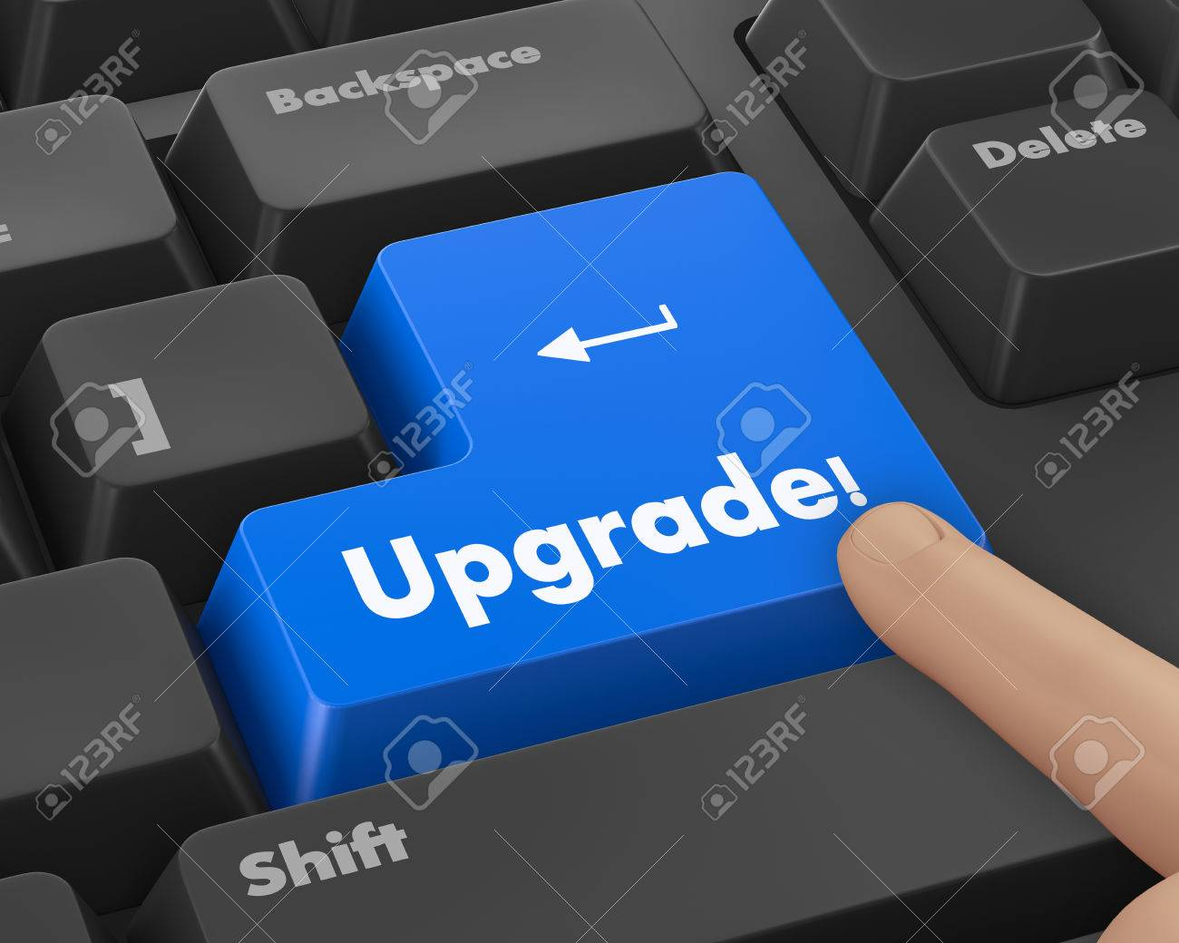 Text Upgrade Button D Render Stock Photo