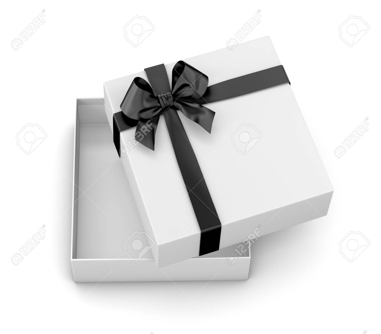 Gift Box For Christmas New Year S Day Open White Gift Box Black
