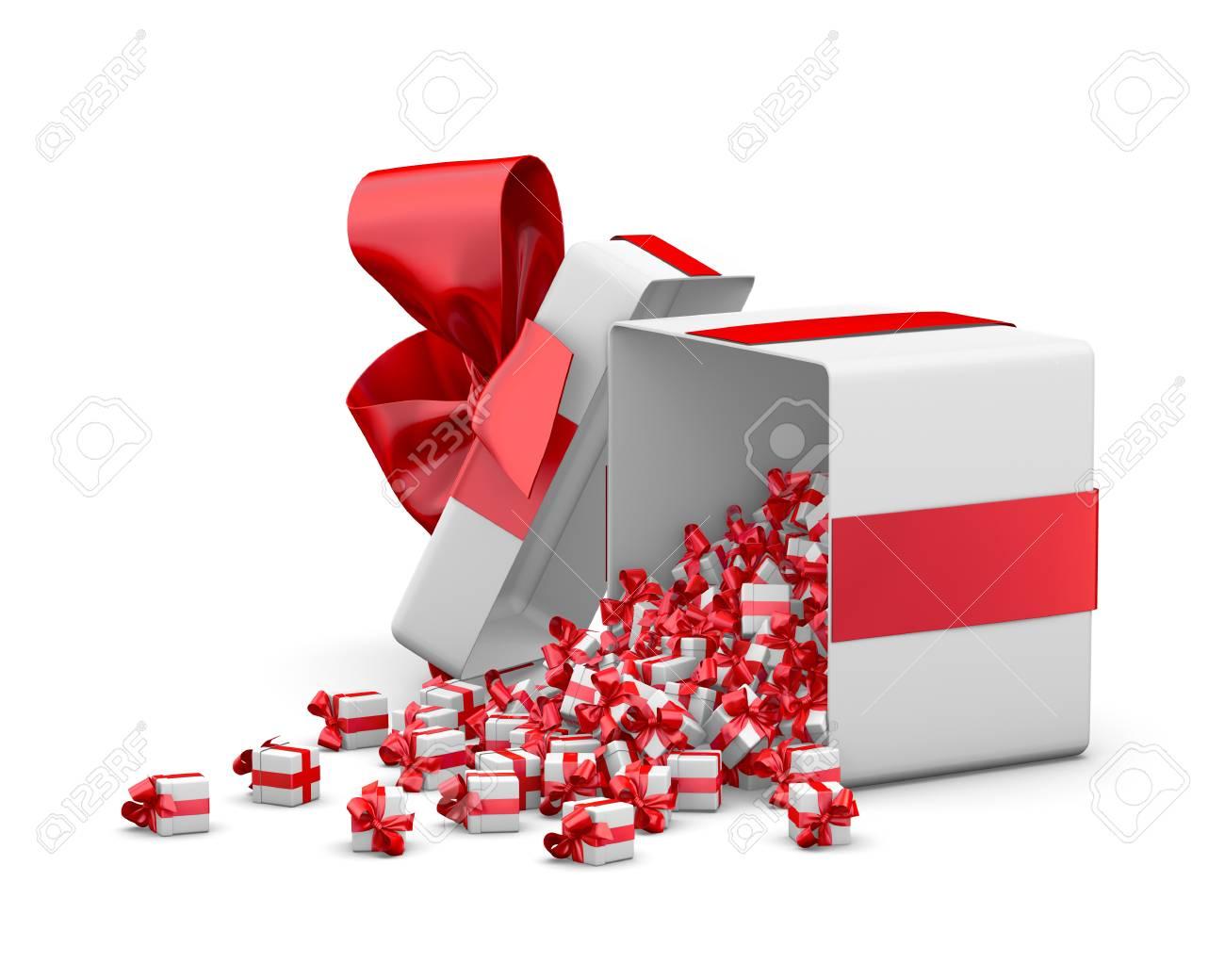 Red Geschenk-Box Für Weihnachten, Neujahr, Geschenk-Box Kleines ...