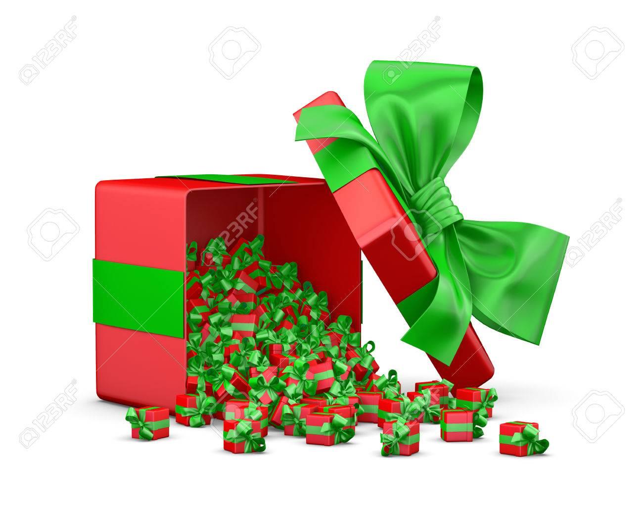 Viele Rote Geschenke Für Weihnachten Neujahr Open Großes Geschenk
