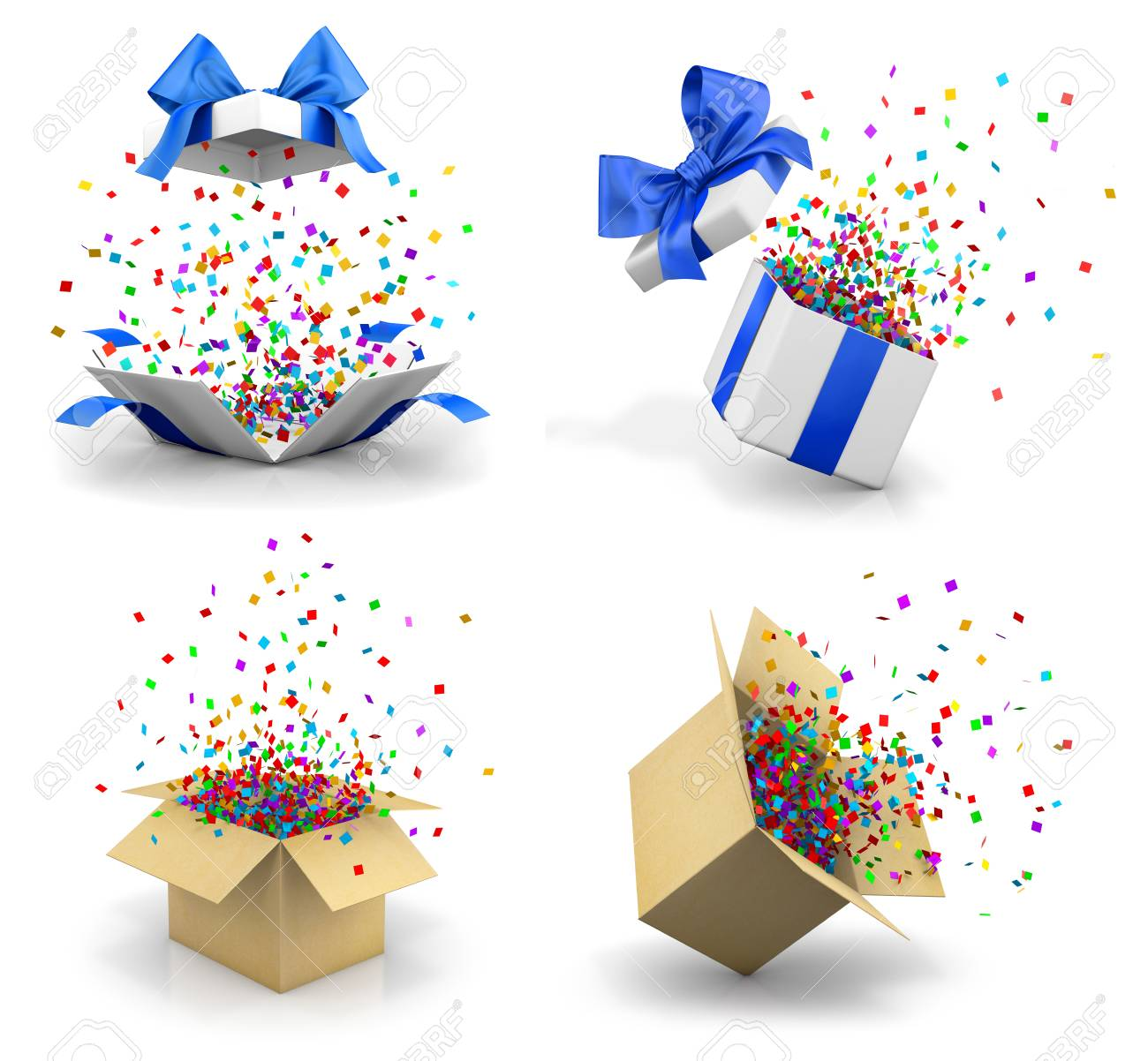 open gift box for merry christmas new years day open gift boxes explode emitting