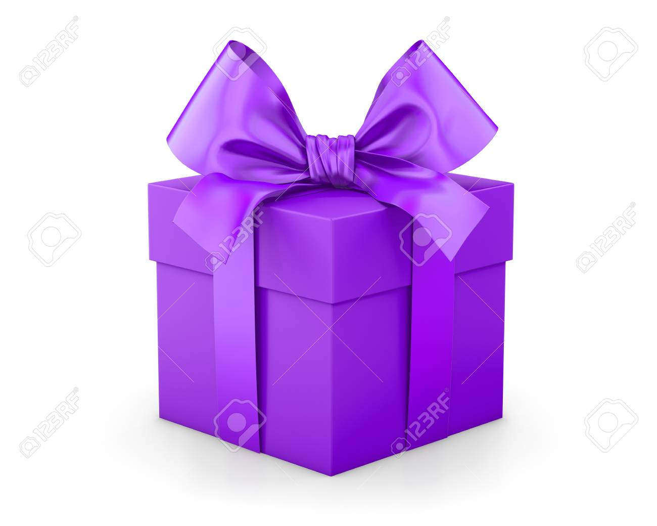 Purple gift box for Christmas New Yearu0027s Day 3d rendering Stock Photo - 73551530  sc 1 st  123RF.com & Purple Gift Box For Christmas New Yearu0027s Day 3d Rendering Stock ...