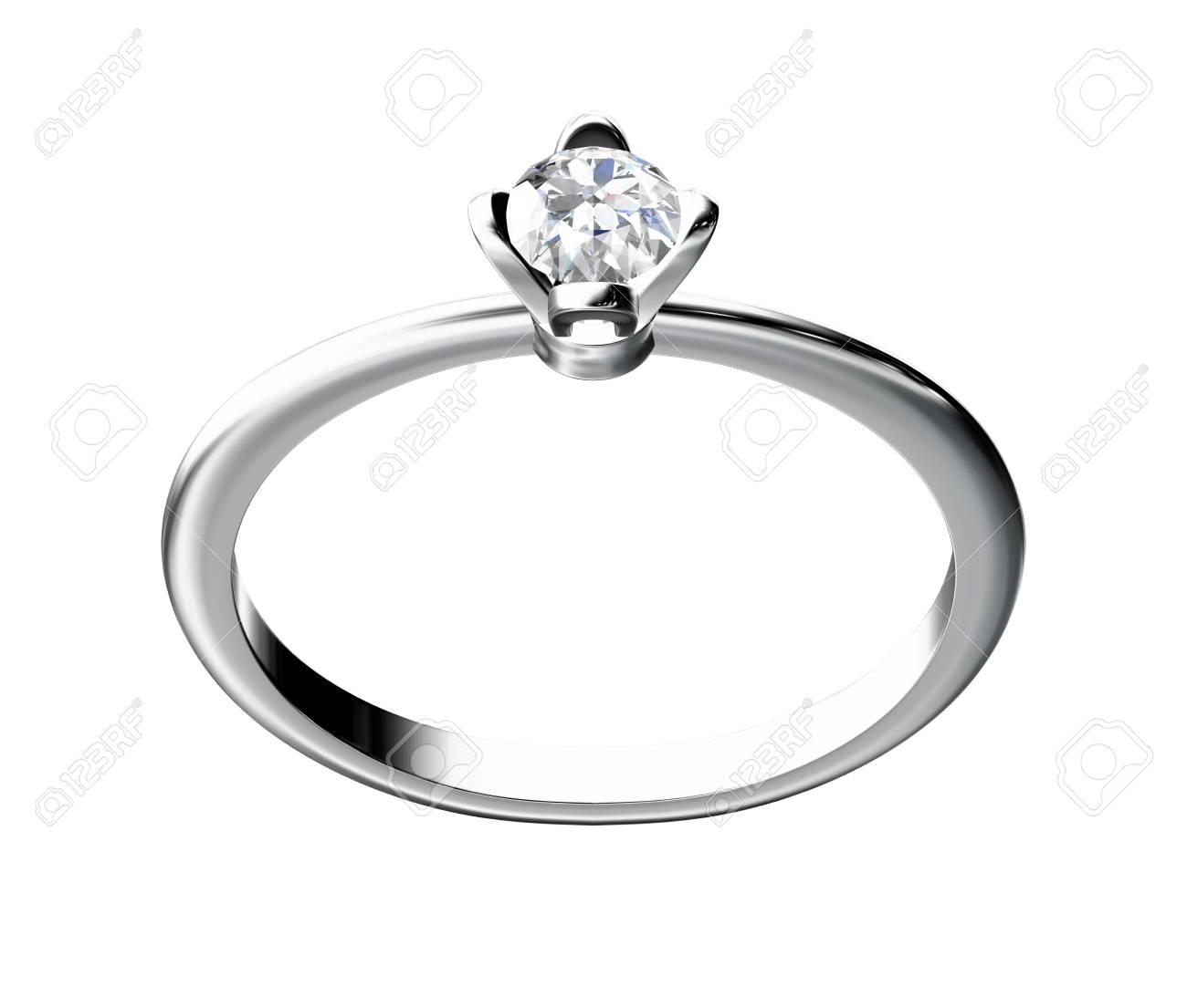 The beauty wedding ring on white background Stock Photo - 10356640