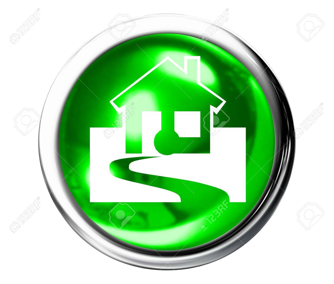 Home Icon Button Stock Photo - 10590464