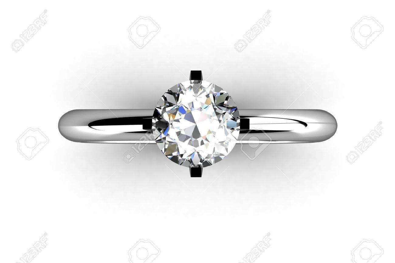 Diamond ring isolated on white background Stock Photo - 11865764