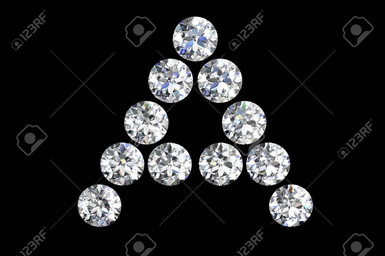 The letter A 3d diamond art illustration Stock Illustration - 14413403