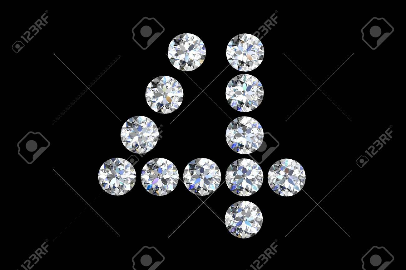 Diamond number four Stock Photo - 14556564