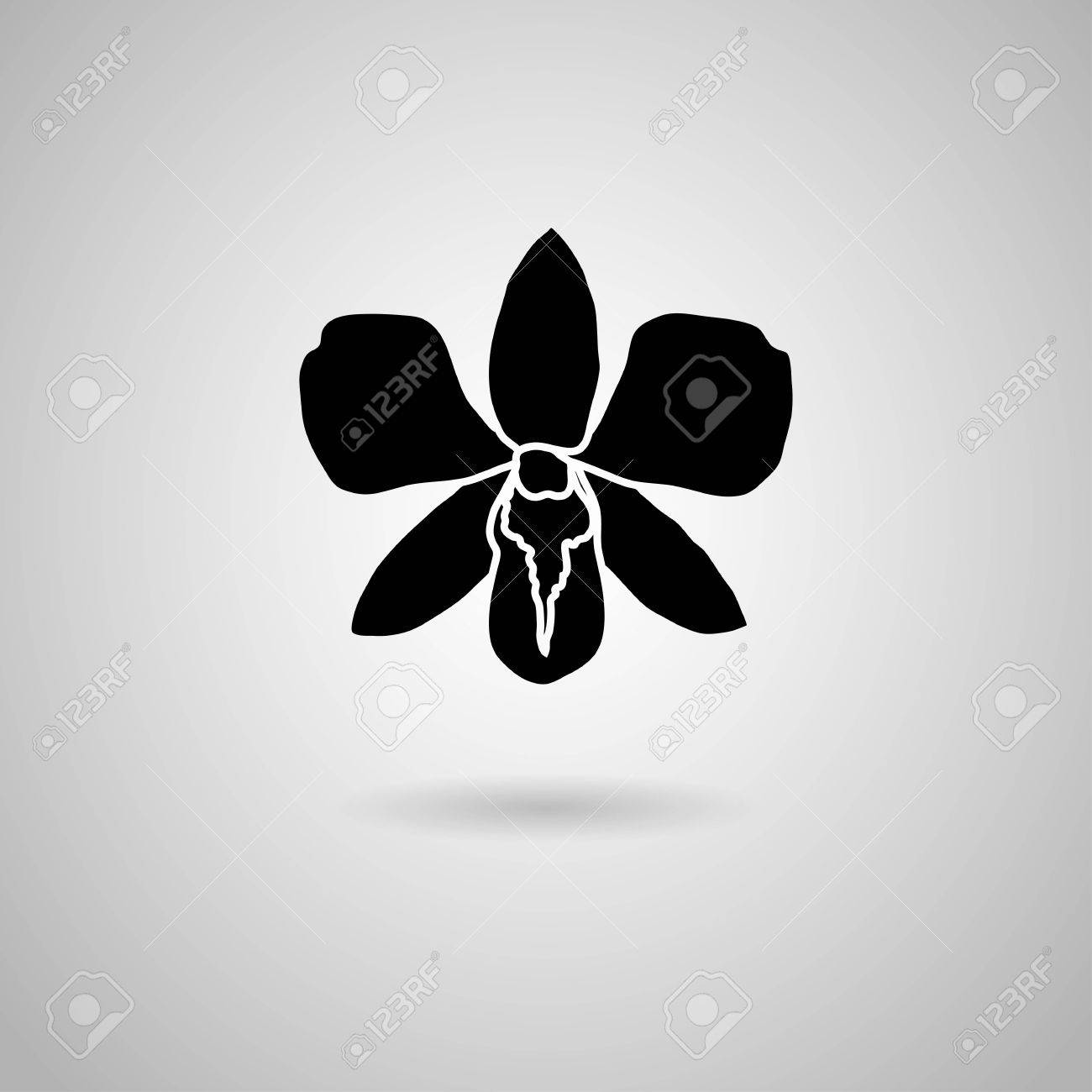 Orchid Stencil