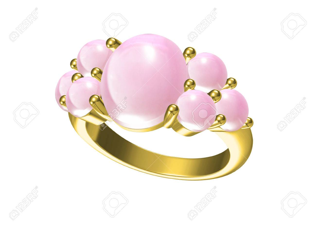 Wedding Ring. Sign Of Love. Fashion Jewelry Stock Photo, Picture And ...