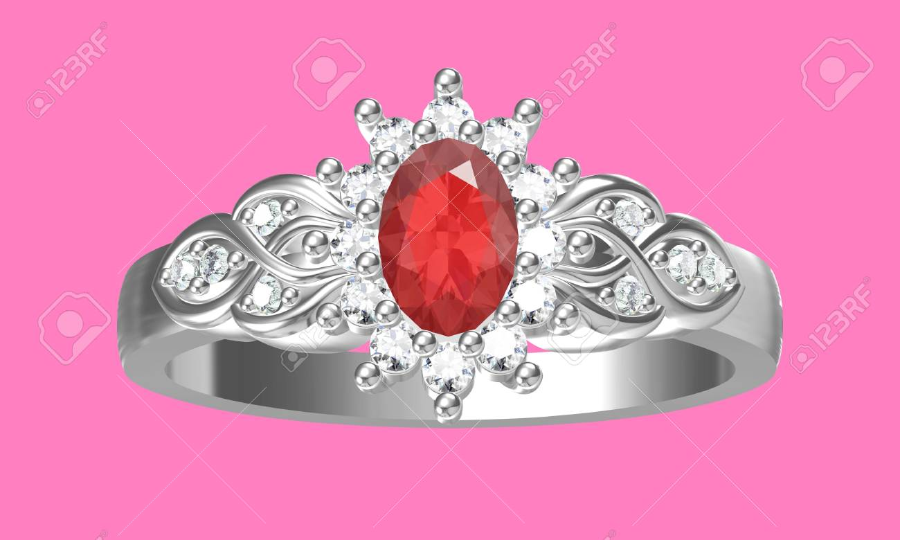 Diamonds Ring On White Gold Body Shape The Most Luxurious Stock ...