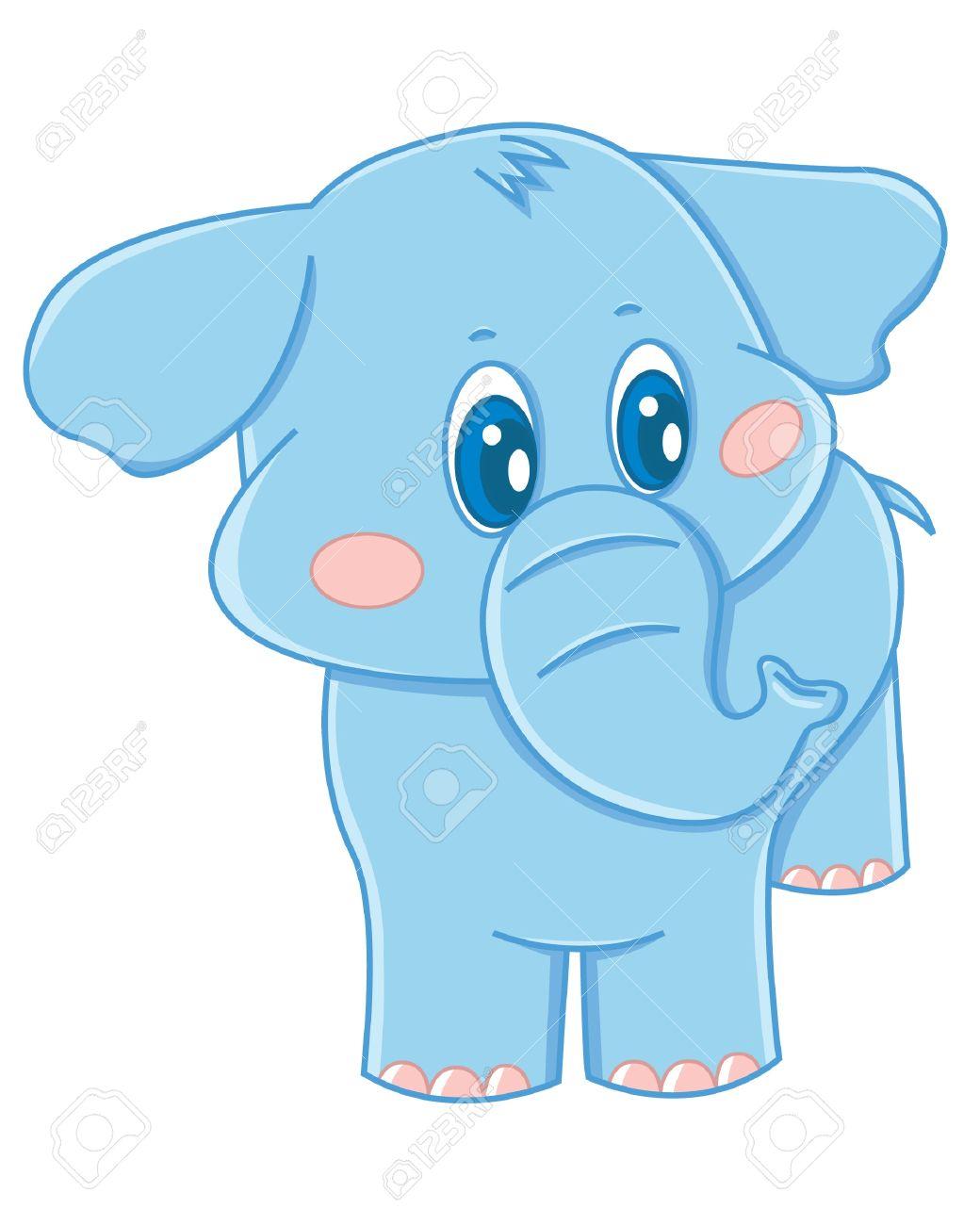 Bebé Elefante Ilustraciones Vectoriales, Clip Art Vectorizado Libre ...