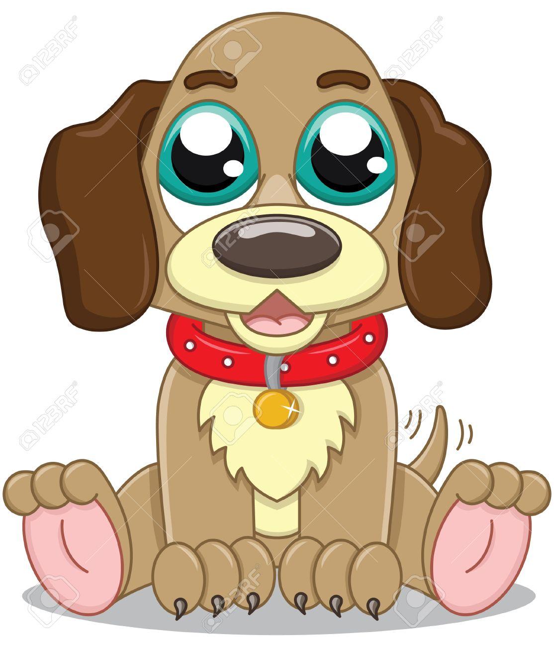 Cute cartoon puppy Stock Vector - 14607472