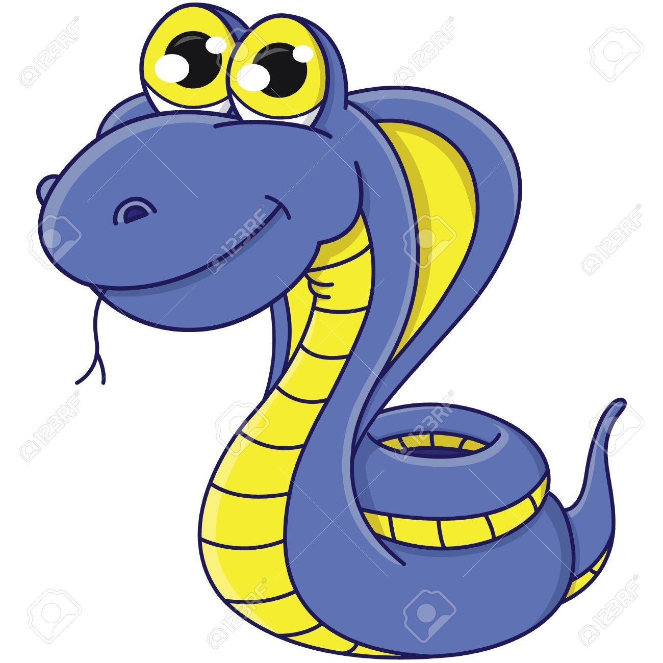 cartoon snake. symbol 2013 Stock Vector - 15557730