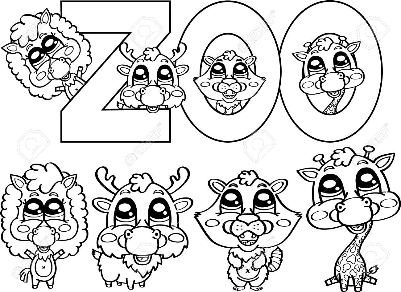 banque dimages coloriage des personnages mignons zoo