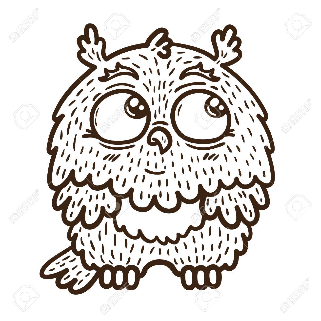 Baby owl Vector illustration of adorable friendly owl Stock Vector - 23866682