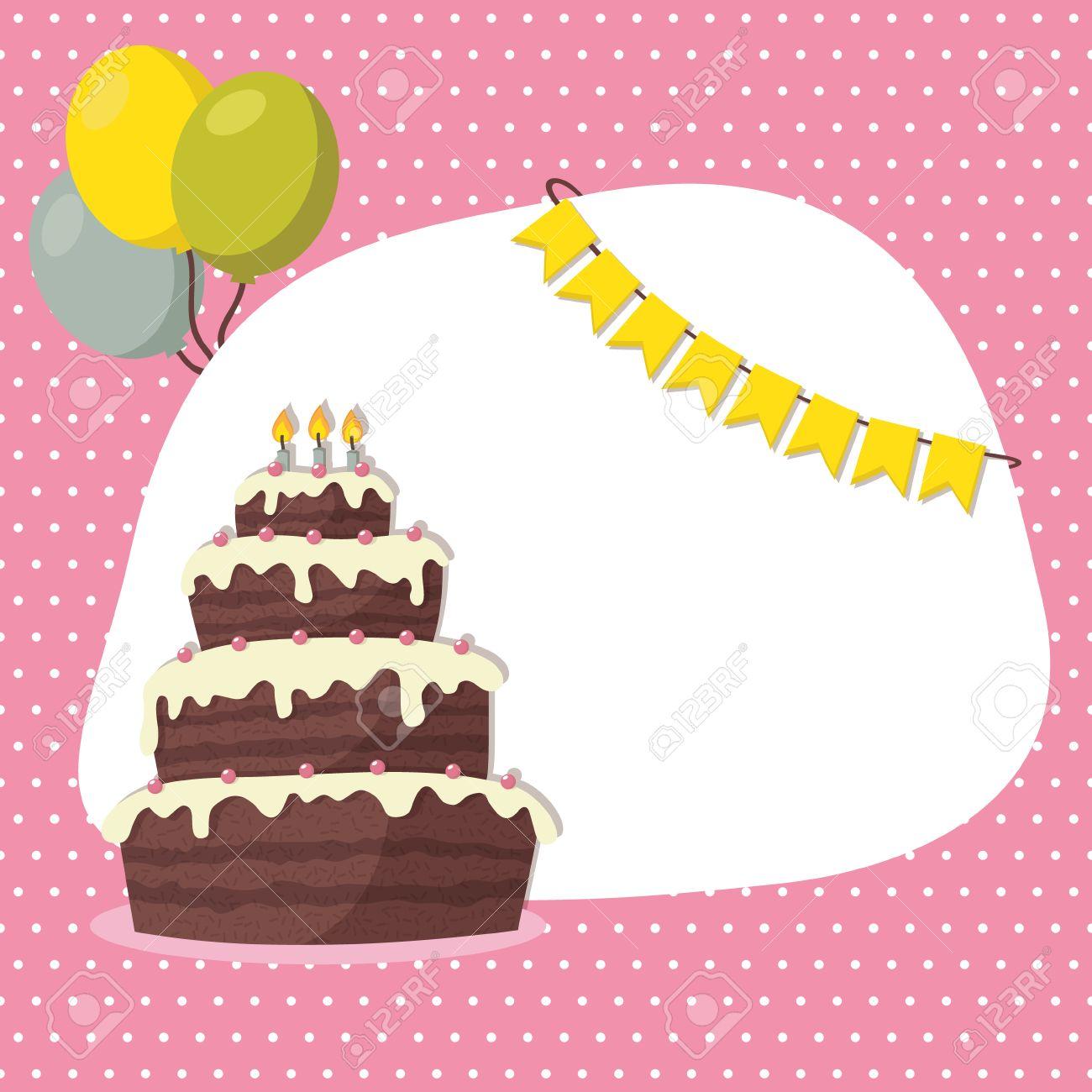 Birthday Invitation Card For Girl Royalty Free Cliparts, Vectors ...
