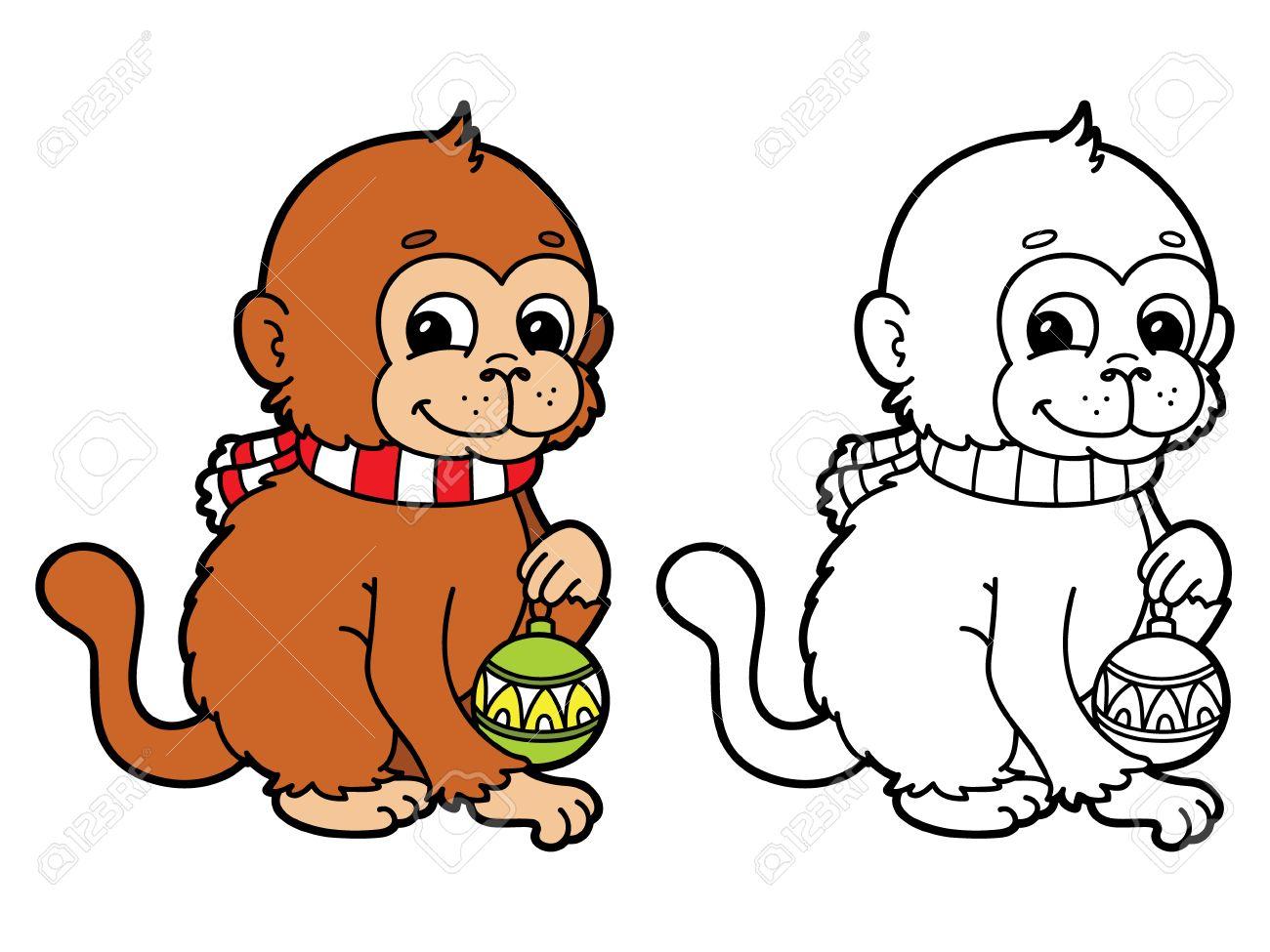Erfreut Affen Malvorlagen Für Kinder Bilder - Malvorlagen Von Tieren ...
